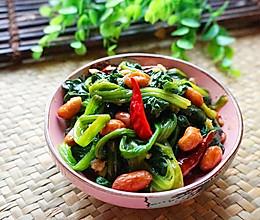 脆果仁拌菠菜的做法