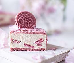 超美的樱花奥利奥芝士蛋糕的做法
