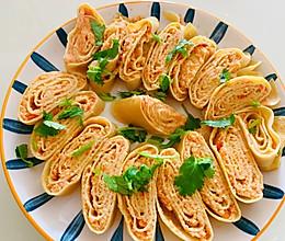 胡萝卜虾仁豆皮卷的做法