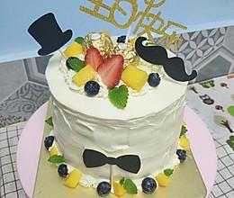 6寸简约生日蛋糕男士蛋糕的做法