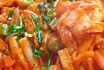 韩国泡菜炒年糕的做法