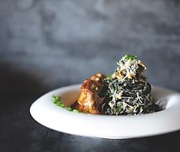 为各种情人节和纪念日做准备-味增奶油蘑菇鸡排意面的做法