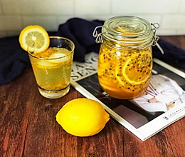 百香果蜂蜜柠檬茶的做法