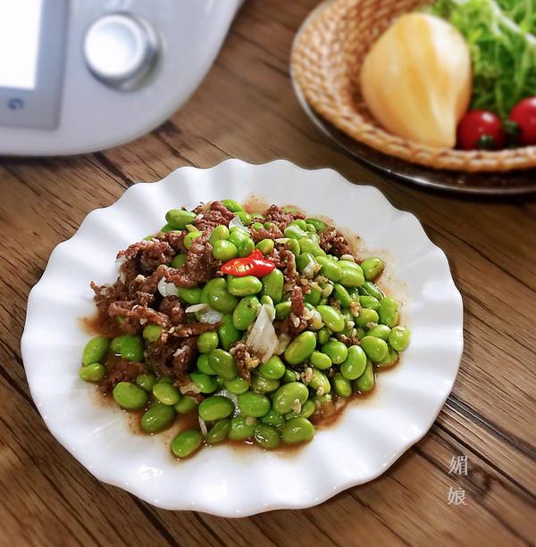 鲜毛豆仁炒牛肉的做法