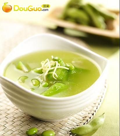 丝瓜毛豆汤的做法