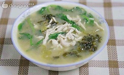 酸菜鸡丝汤的做法