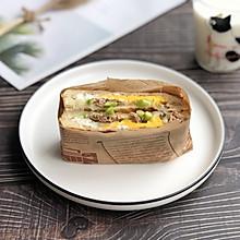#冰箱剩余食材大改造#芦笋金枪鱼煎蛋三明治