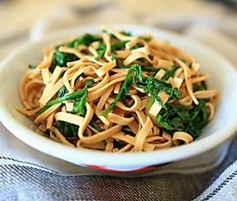 豆腐丝拌蒿叶的做法