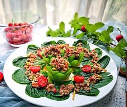 青菜油白菜的别样吃法-莲花盏的做法