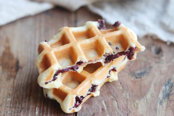紫米馅华夫饼的做法