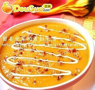 养生南瓜汤——奶油培根南瓜浓汤的做法