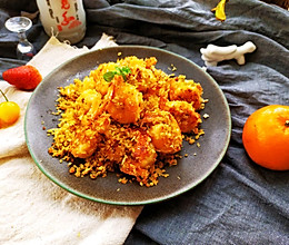 #创意菜#原创蒜蓉面包虾