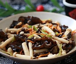 海鲜菇炒木耳的做法