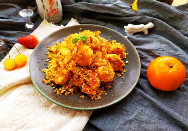 原创蒜蓉面包虾的做法