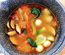 番茄青菜汤的做法