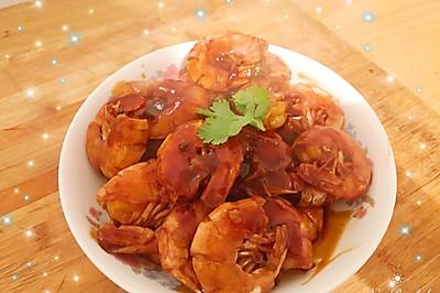 姜丝油焖大虾