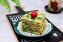 #春天肉菜这样吃#鹅蛋菠菜早餐饼的做法