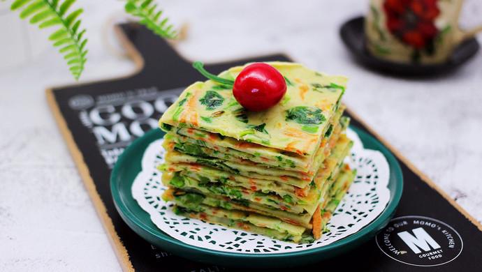 #春天肉菜这样吃#鹅蛋菠菜早餐饼
