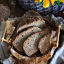#爱好组-高筋#一次性发酵亚麻籽黑麦面包