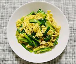 蛋炒小白菜的做法