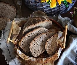 #爱好组-高筋#一次性发酵亚麻籽黑麦面包的做法