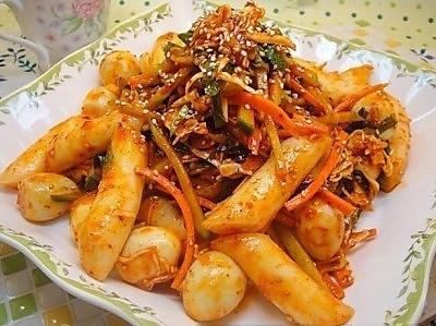 韩式辣年糕新做法---不用炒的用拌的