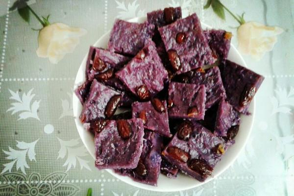 紫薯红枣糕的做法