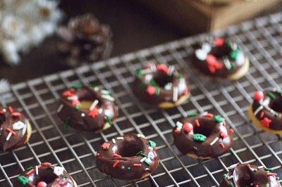 圣诞风mini甜甜圈