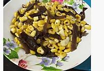 清炒木耳玉米粒的做法