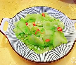 #餐桌上的春日限定#清炒洋丝瓜(佛手瓜)快手菜的做法