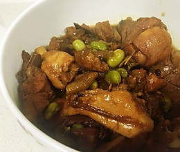 毛豆红烧鸡块的做法