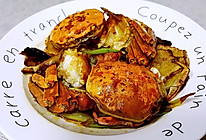 葱姜爆炒大闸蟹的做法