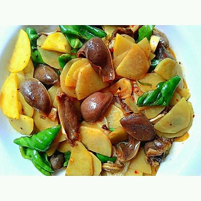 土豆片炒鸭胗