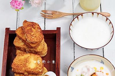 蛋奶香煎馒头片