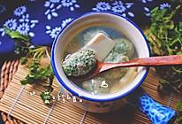 荠菜肉丸豆腐汤的做法