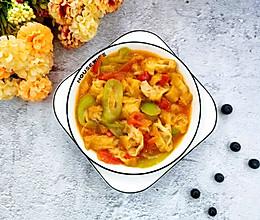 西红柿丝瓜烩油条#520,美食撩动TA的心!#的做法