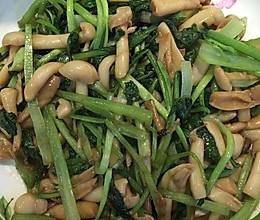 青菜炒蘑菇的做法