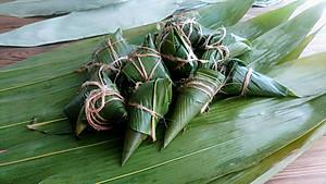 绿黍红花枣生粽【图片】