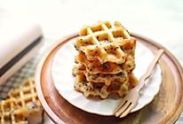 #换着花样吃早餐#香草芝麻华夫饼的做法
