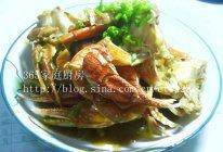 葱姜炒花蟹的做法