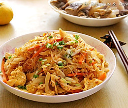 包菜鸡蛋炒粉丝#金龙鱼外婆乡小榨菜籽油 最强家乡菜#的做法