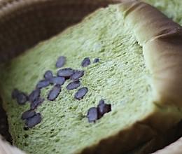 抹茶蜜豆吐司的做法