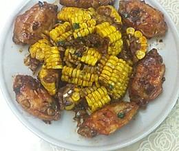 玉米烧鸡翅的做法