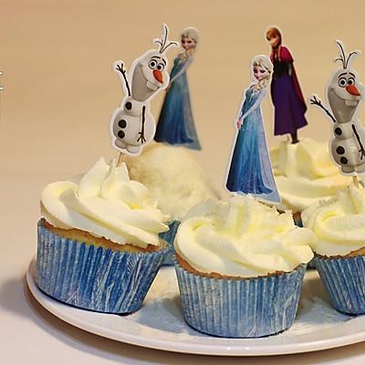 冰雪奇缘杯子蛋糕,亲子烘焙