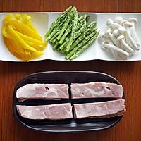 鲜蔬培根卷#Gallo橄露橄榄油#的做法图解2