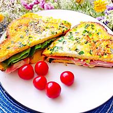 #换着花样吃早餐#鸡蛋火腿三明治