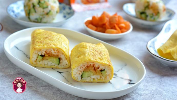 #童年不同样,美食有花样# 鸡蛋包饭卷