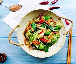 #硬核菜谱制作人#干锅包菜(简易版)的做法