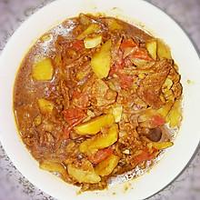 西红柿土豆肉片茄子豆腐烩菜炖菜