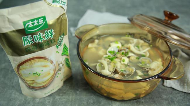 花蛤菌菇豆腐汤的做法